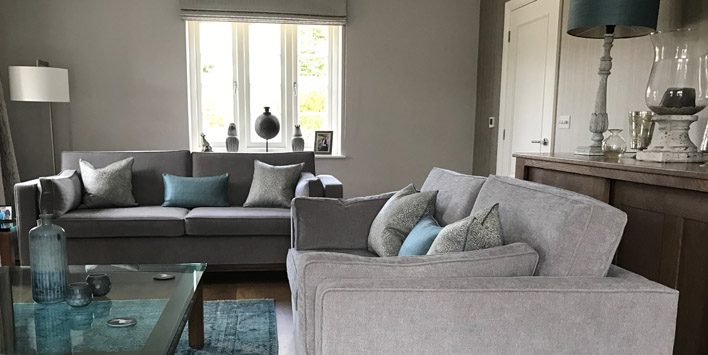 Sitting room design for new build in Hertfordshire