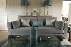 Sitting Room design with custom made furniture and soft furnishings